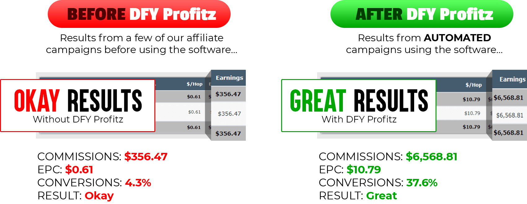 DFY Profitz Results